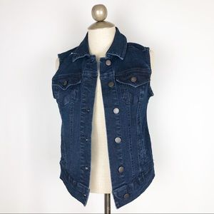 Max studio denim vest new with tags